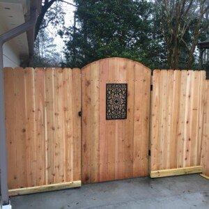 Wood Gate Installation