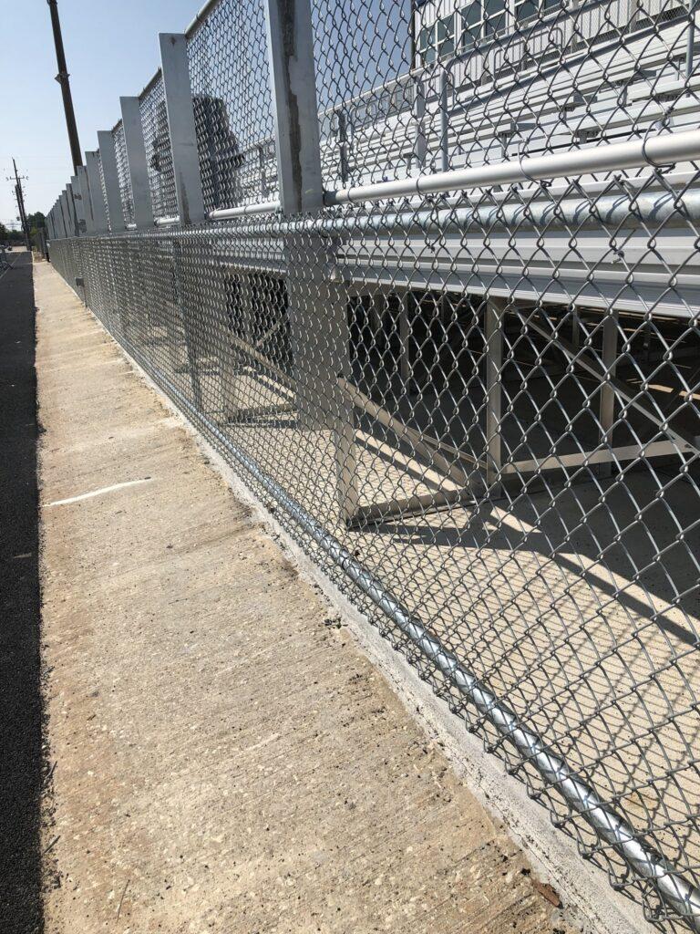 chainlink-fence-bleachers